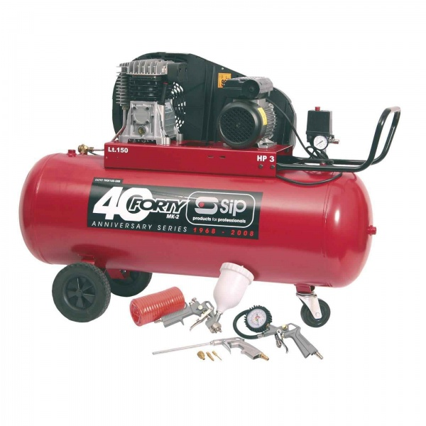 SIP 04292 Forty-TN3HP/150-SRB Compressor (Free 7 Piece Kit)