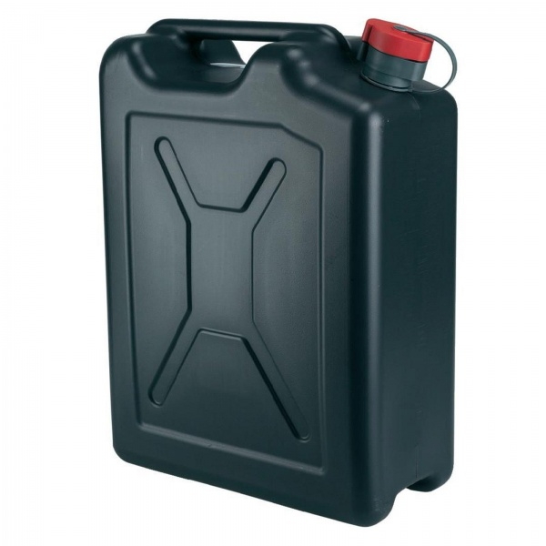CAN PLASTIC WATER 20L BLACK