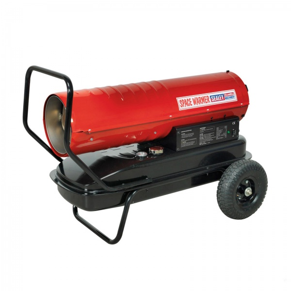 SEALEY AB100E SPACE HEATER 100000BTU WITH WHEELS DIESEL