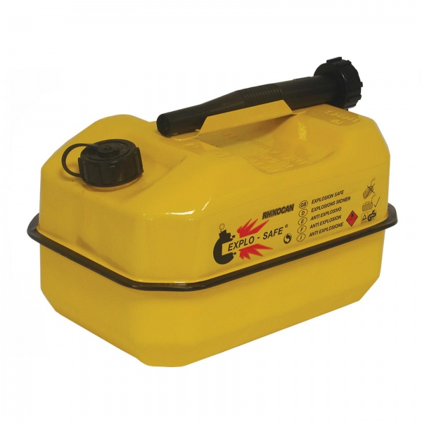 CAN PETROL SAFETY YELLOW 10LTR EXPLO-SAFE