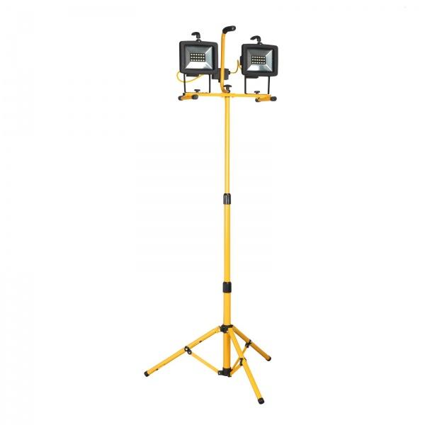 SEALEY LED130110TD LIGHT130 LED TWIN HEAD TRIPOD 110V