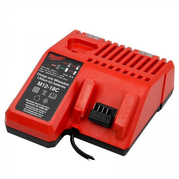 MILWAUKEE BATTERY CHARGER DUAL FAST CHARGER VOLTAGE 12V-18V