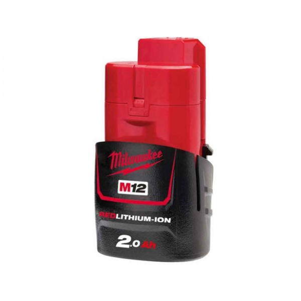MILWAUKEE M12B2 BATTERY REDLITHIUM-ION 2.0AH 12V