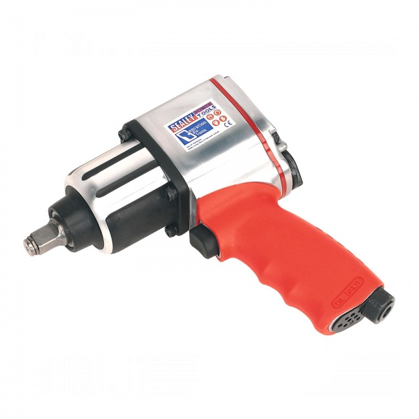 SEALEY GSA02 AIR IMPACT WRENCH 1/2 INCH SQ DRIVE TWIN HAMMER