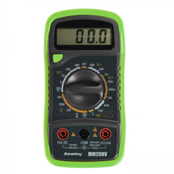 SEALEY MM20HV DIGITAL MULTIMETER WITH THERMOCOUPLE