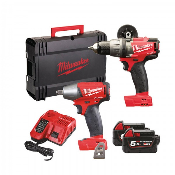 M18FPP2B-502X FUEL TWIN PACK 18V COMBI DRILL & IMPACT WRENCH