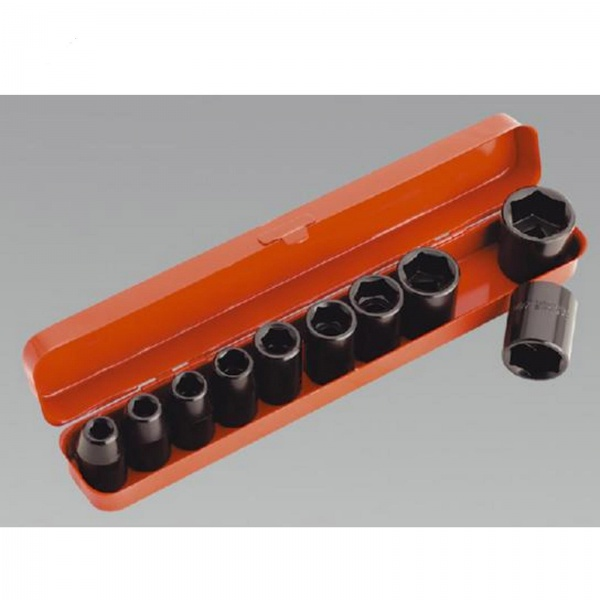 SEALEY AK56/11M SOCKET SET IMPACT 10PC 1/2