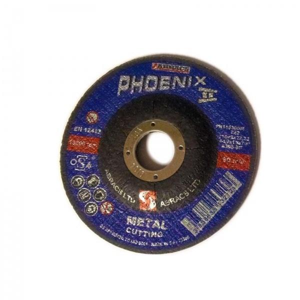 METAL CUTTING DISC 115MM X 3.0MM PHOENIX II