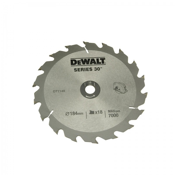 DEWALT DT1149 CIRCULAR SAW BLADE 184MM 16BORE 18T