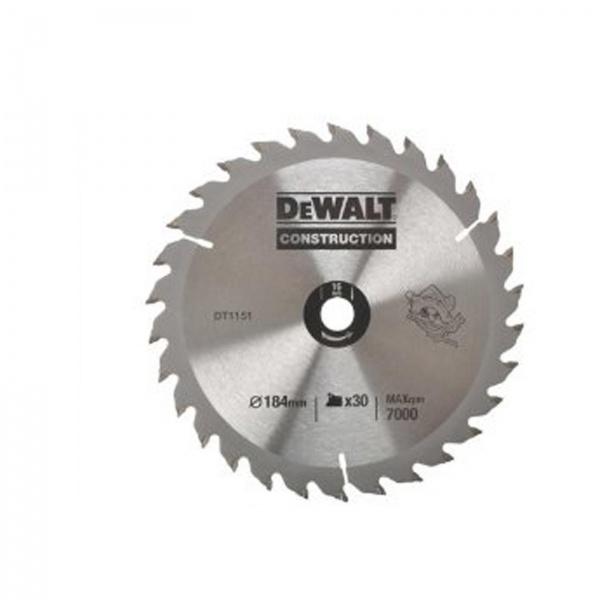 DEWALT DT1151 CIRCULAR SAW BLADE 184MM 16BORE 30T