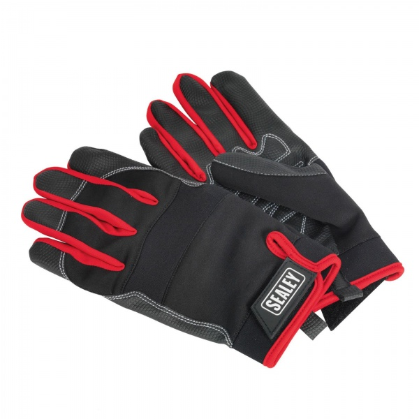 SEALEY MG798L MECHANIC'S GLOVES LIGHT PALM TACTOUCH