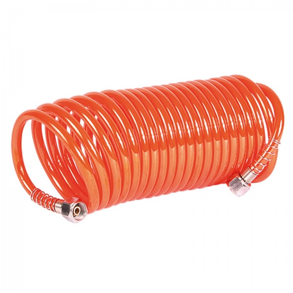 SIP 02163 Coiled Air Hose (5m with Fittings)