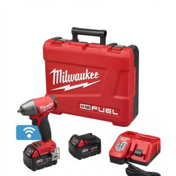 MILWAUKEE COMPACT IMPACT WRENCH 18V ONEKEY 2 X 5AH BAT