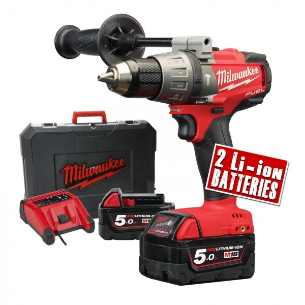 MILWAUKEE M18FPD-502X COMBI DRILL 2 X 5AH BAT