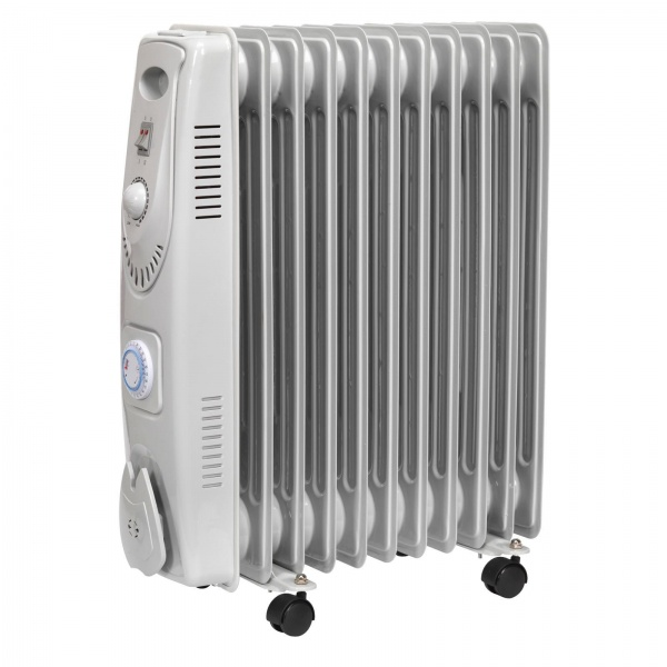 Oil Filled Radiator 2500W/230V 11 Element with Timer