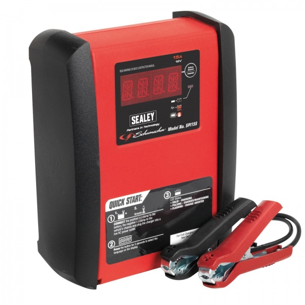 SEALEY SPI15S INTELLIGENT SPEED BATTERY CHARGER 15AMP