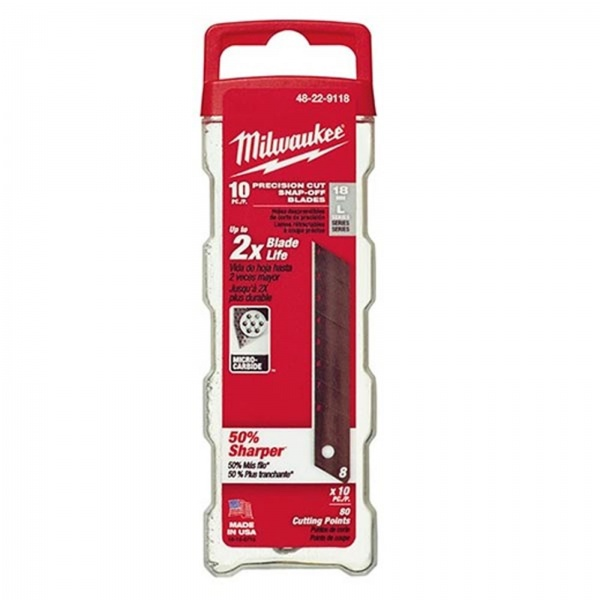 MILWAUKEE 48229118 18mm Snap Off Blades Pack of 10