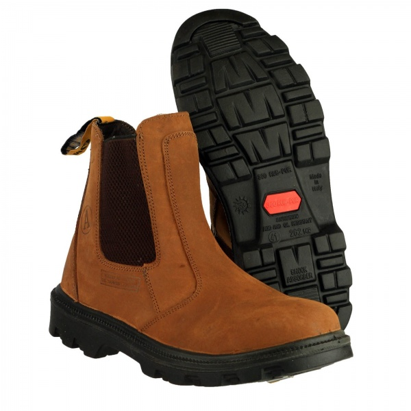 AMBLERS FS131 WATER RESISTANT PULL ON SAFETY DEALER BOOT