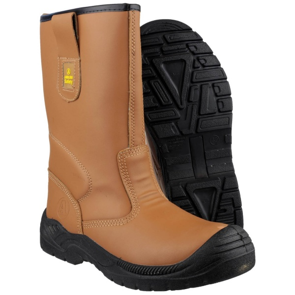 AMBLERS FS142 WATER RESISTANT PULL ON SAFETY RIGGER BOOT