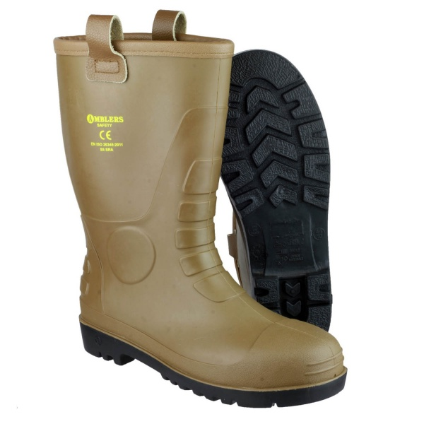 AMBLERS FS95 WATERPROOF PVC PULL ON SAFETY RIGGER BOOT