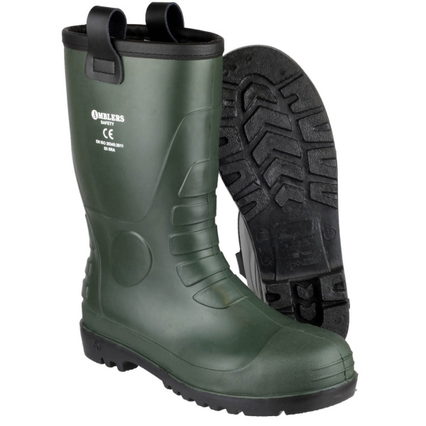 AMBLERS FS97 WATERPROOF PVC PULL ON SAFETY RIGGER BOOT