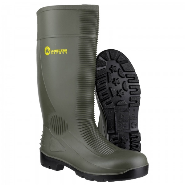 AMBLERS FS99 WATERPROOF PULL ON RIBBED SAFETY WELLINGTON