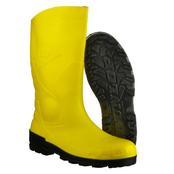 DUNLOP DEVON YELLOW WELLINGTON BOOT