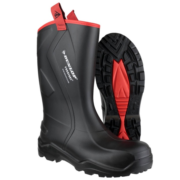 DUNLOP MENS PUROFORT+ RUGGED FULL SAFETY BOOTS