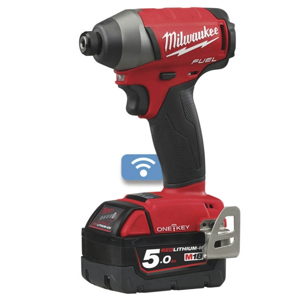 MILWAUKEE M18ONEID-502X 18V IMPACT DRIVER 2 X 5AH BATTERIES
