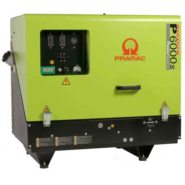 PRAMAC P6000S 6KVA SILENT DIESEL GENERATOR
