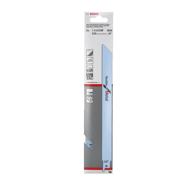 BOSCH S1122BF RECIP SAW BLADE FOR METAL 5 PACK
