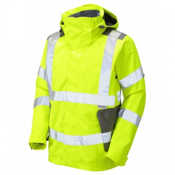 LEO EXMOOR ISO 20471 Class 3 Breathable Jacket Yellow