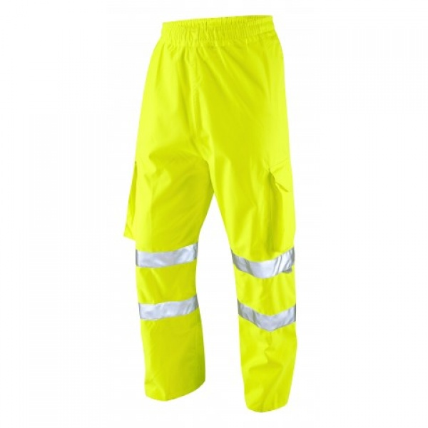 LEO INSTOW ISO 20471 Class 1 Breathable Executive Cargo Overtrouser Yellow