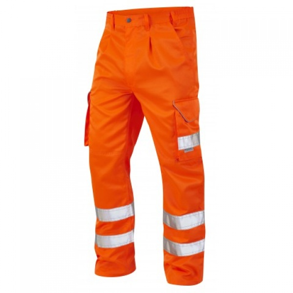 LEO BIDEFORD ISO 20471 Class1 Cargo Trouser Orange