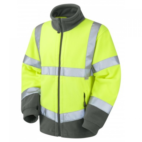 Hartland ISO 20471 Class 3 Fleece Jacket Yellow