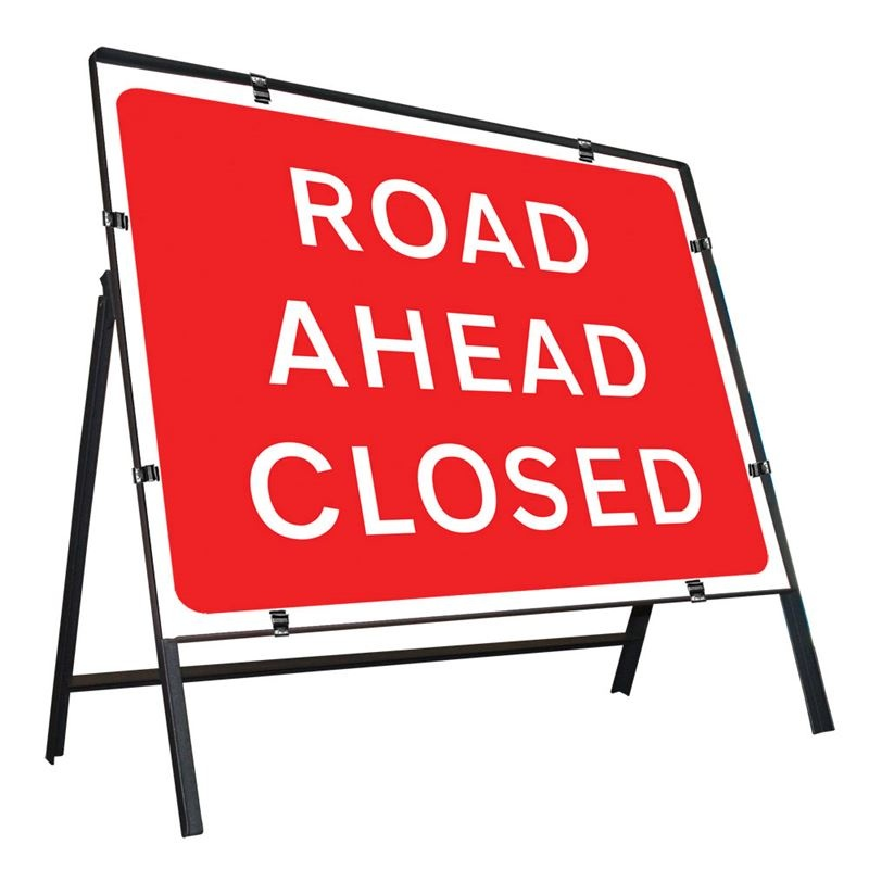 Road Closed Ahead - Class 2 Road Sign