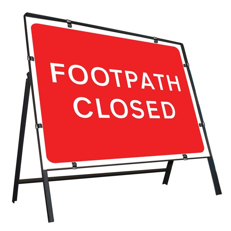 Footpath Closed - Class 2 Sign