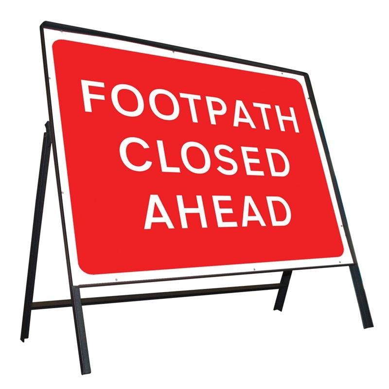 Footpath Closed Ahead - Class 2 Sign
