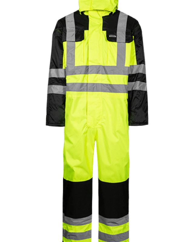 High-Visibility Winter Coverall - Saturn Yellow - With hood