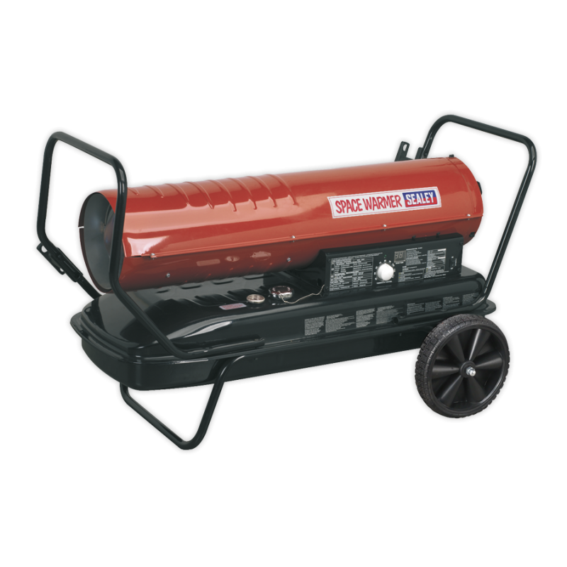 Space Warmer® Paraffin/Kerosene/Diesel Heater 175,000Btu/hr with Wheels