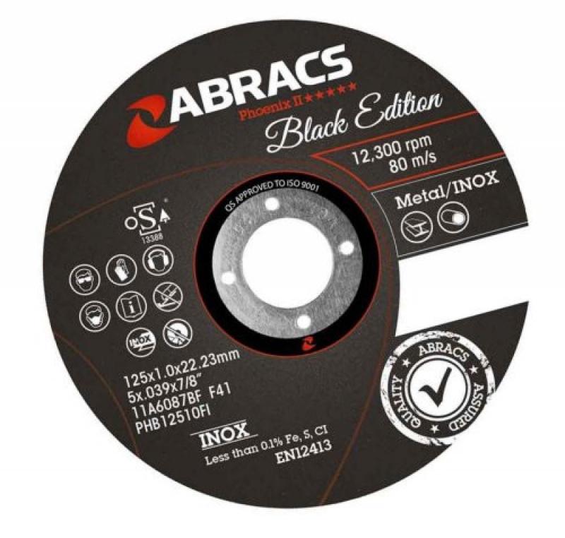 Abracs PHB11510F1 Black Edition Extra Thin Metal Cutting Disc 1-115mm-1mm 25 Pack