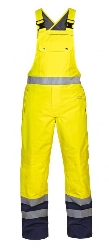 Hydrowear hi vis waterproof bib & brace yellow/navy