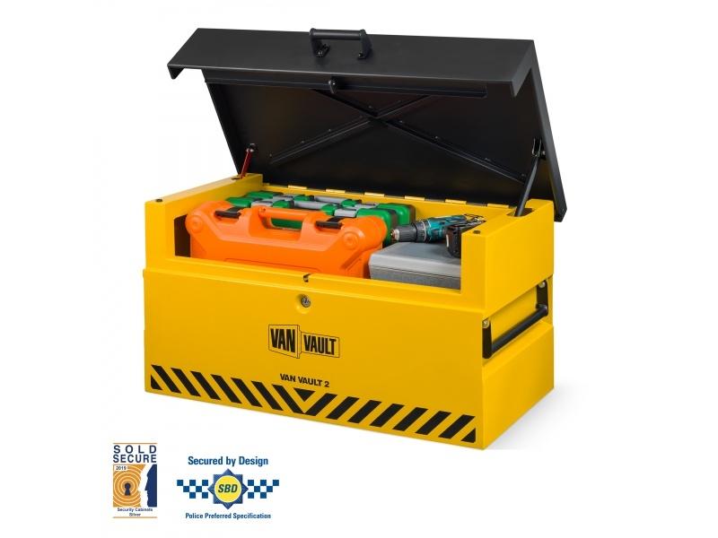 Van Vault 2 Secure Tool Box c/w Gas Struts (935 x 590 x 494mm)