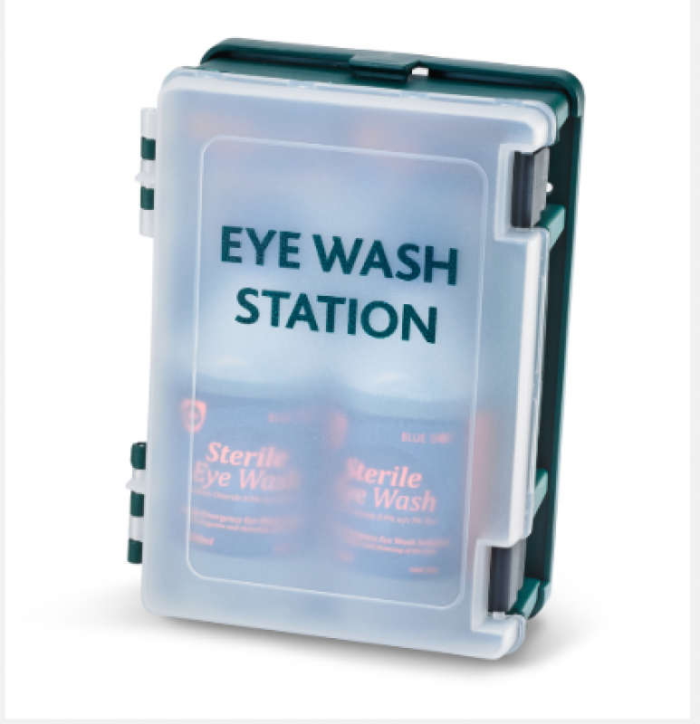 Monutable eye wash station