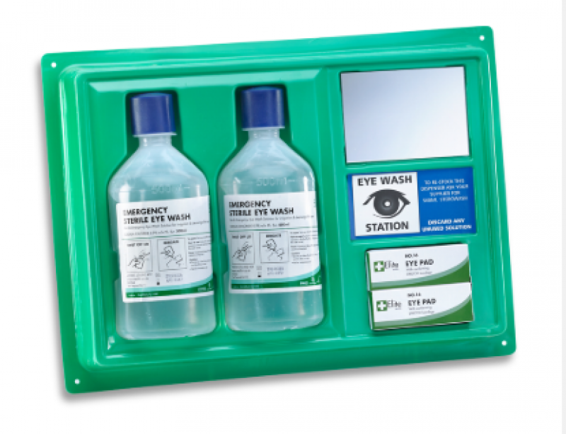 CLICK MEDICAL EYEWASH STATION C/W 2X500ML