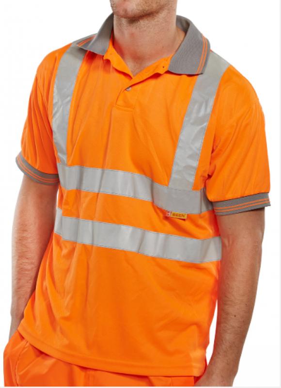 Beeswift Short sleeved polo shirt - orange