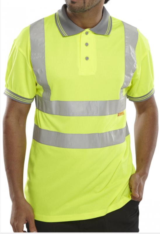Beeswift Short Sleeve polo shirt - yellow