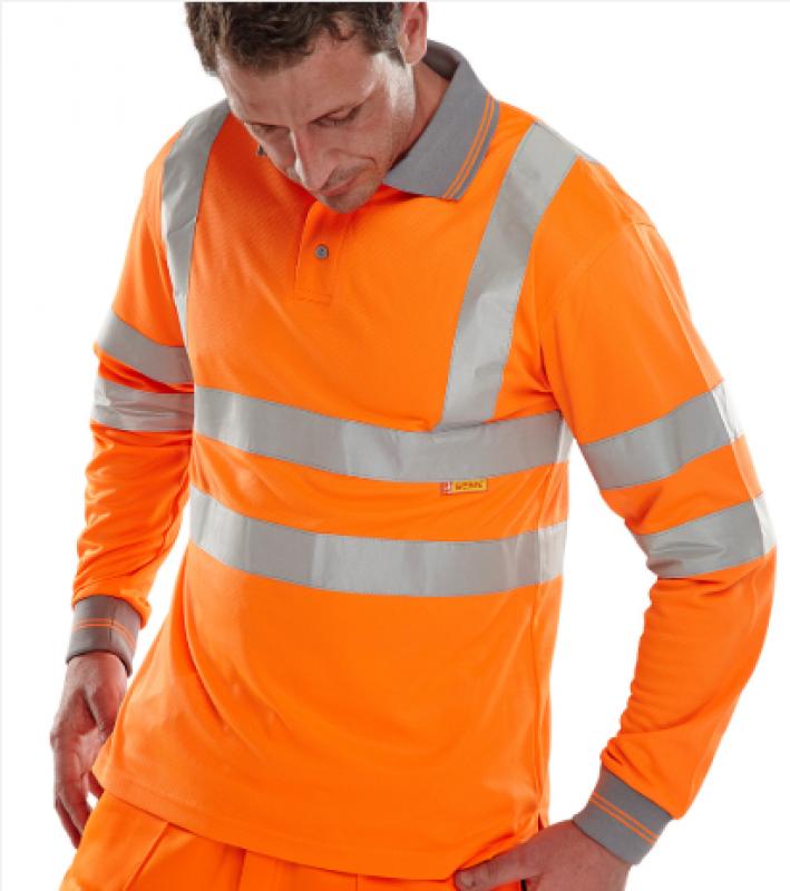 Beeswift long sleeve polo shirt - Orange