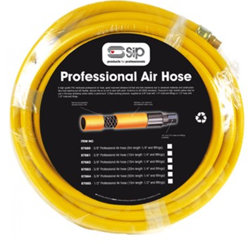 1/2 Professional Air Hose (15m 1/2 Fittings) 07885
