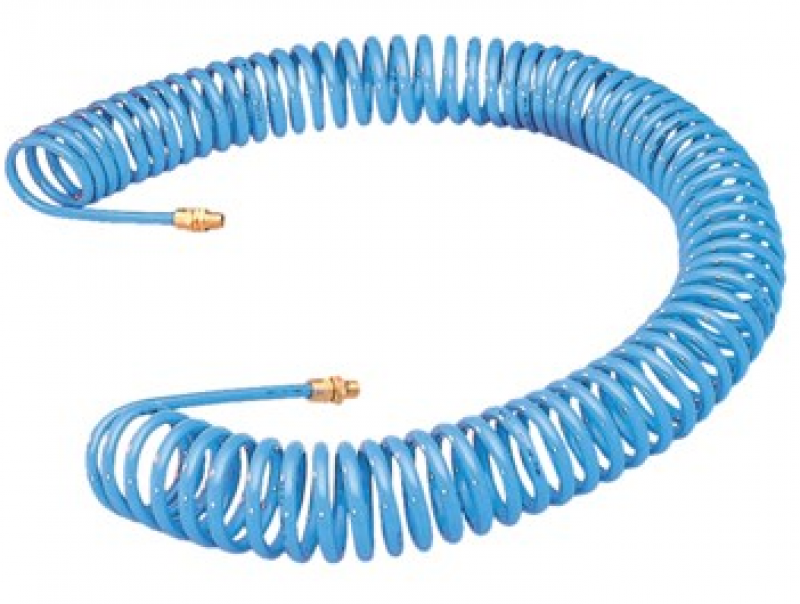 Coiled Air Hose (50ft with Swivel Fittings) 07566